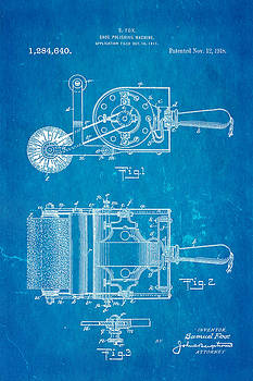 Ian Monk - Fox Shoe Polishing Machine Patent Art 1917 Blueprint