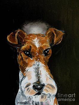 Fox terrier angel by Jay  Schmetz