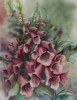 Foxgloves by Lynette Yencho
