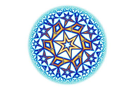 Hakon Soreide - Fractal Escheresque Winter Mandala 1