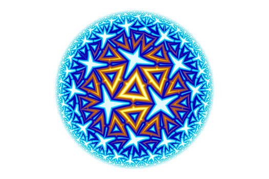 Hakon Soreide - Fractal Escheresque Winter Mandala 10