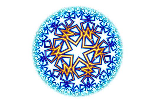 Hakon Soreide - Fractal Escheresque Winter Mandala 2