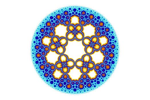 Hakon Soreide - Fractal Escher Winter Mandala 3