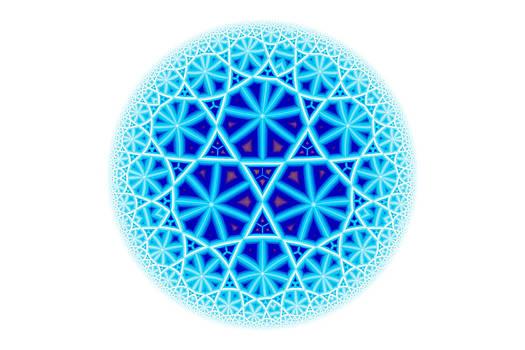 Hakon Soreide - Fractal Escheresque Winter Mandala 4