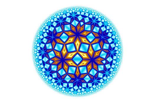 Hakon Soreide - Fractal Escheresque Winter Mandala 7
