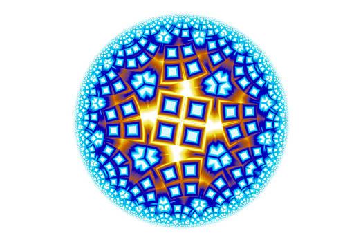 Hakon Soreide - Fractal Escheresque Winter Mandala 9