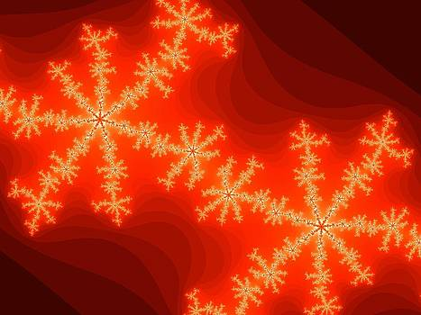 Fractals For Lane  Fire Flakes by Mary Ann Southern
