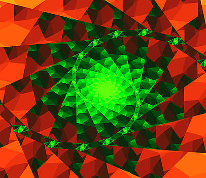 Fractals For Lane  Orange by Mary Ann Southern