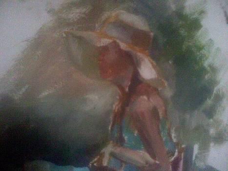 Fragment 2 Oil On Canvas by Victoria Tekhtilova