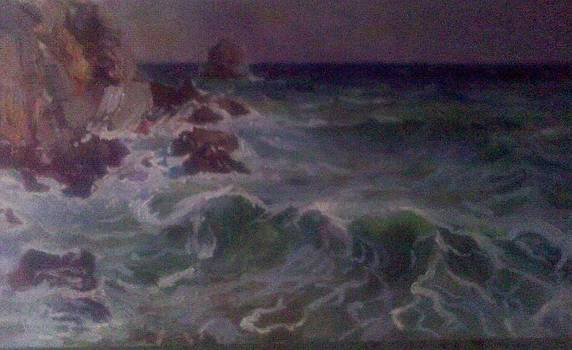 Fragment 3 Oil On Canvas by Victoria Tekhtilova