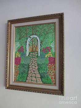 Framed English garden by Sandra Spincola