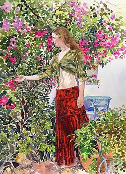 Francesca in Utes Garden by Margaret Merry