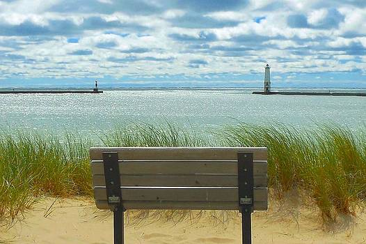 Frankfort Lighthouse Front Row Seats Available by Ted Lepczynski