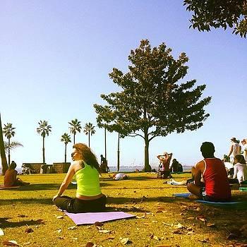 Free Yoga On Junipero And Ocean by Zarah Delrosario
