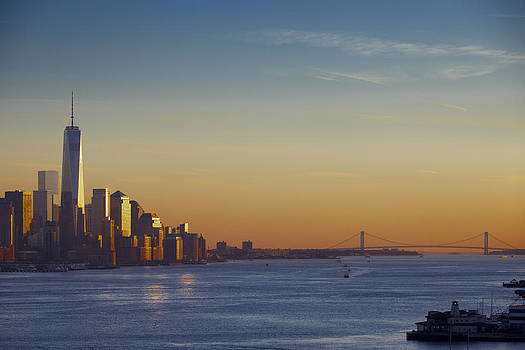 Freedom Tower And Lower Manhattan on the Hudson by Alex Llobet
