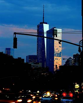 Freedom Tower New York NY at Dusk by Ron Bartels