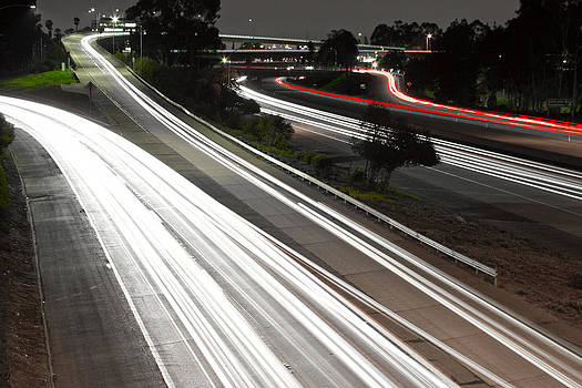 Freeway Lights  by Rollie Robles