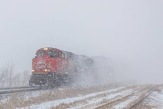 Steve Boyko - Train in Blizzard Snow