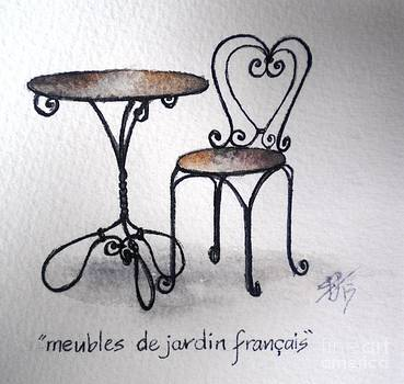 French chair and table by Sandra Phryce-Jones