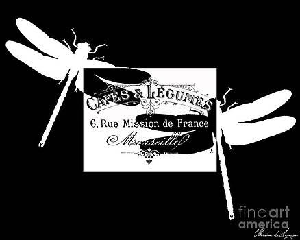 French Dragonflies 1 by Marion De Lauzun