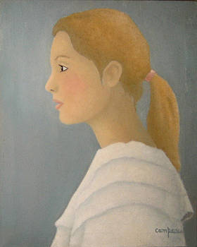 French girl by Michel Campeau