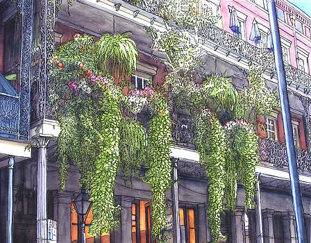 French Quarter Balcony 379 by John Boles