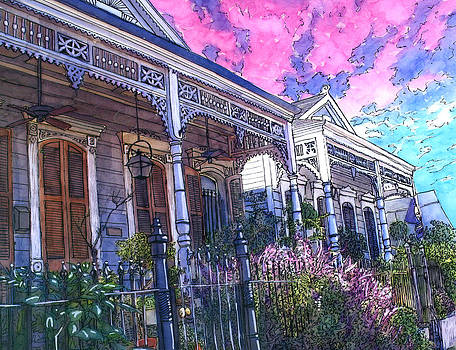 French Quarter Houses 377 by John Boles