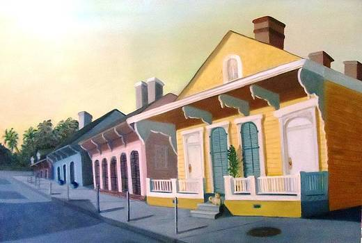 French Quarter Pastel Houses by June Holwell