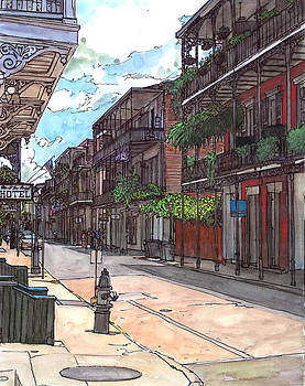 French Quarter Street 372 by John Boles