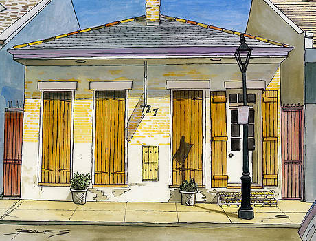French Quarter Yellow Brick House 367 by John Boles