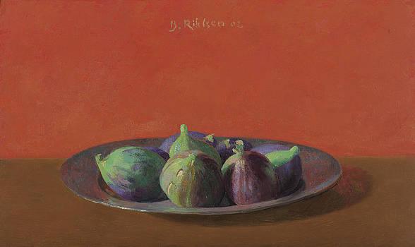 Fresh Figs On An Iron Plate by Ben Rikken
