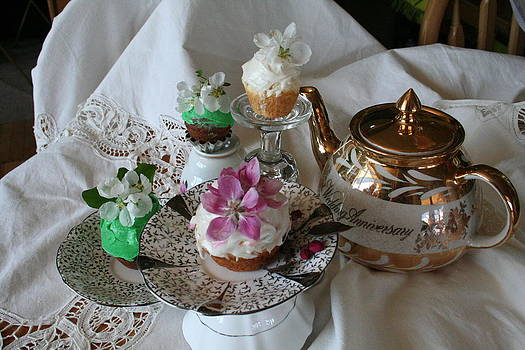 Fresh Flower Tea Party by Pamela Funk