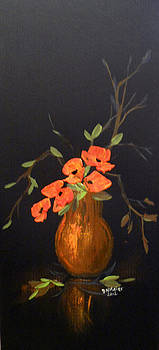 Fresh Flowers In A Vase by Dorothy Maier
