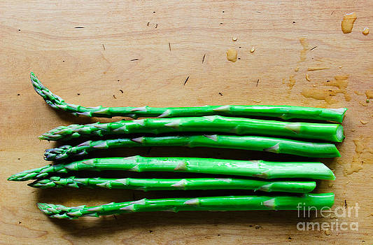 Fresh Green Asparagus by Colleen Kammerer