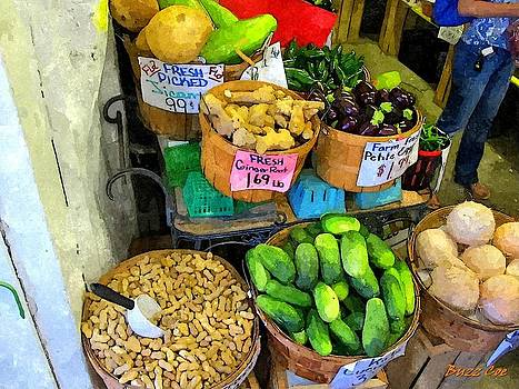 Fresh Pickling Cukes and Peanuts by Buzz Coe