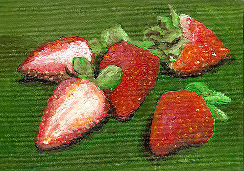 Fresh Strawberries Painting by Arch