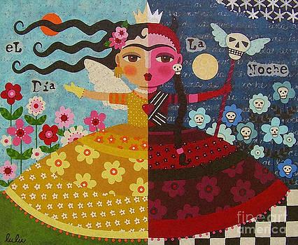 Frida Kahlo Angel Devil Queen by LuLu Mypinkturtle