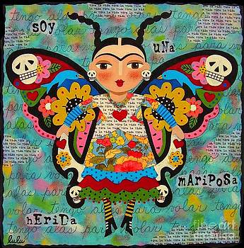 Frida Kahlo Butterfly by LuLu Mypinkturtle
