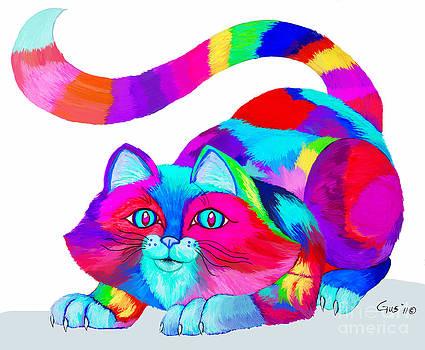 Nick Gustafson - Frisky Colorful Cat