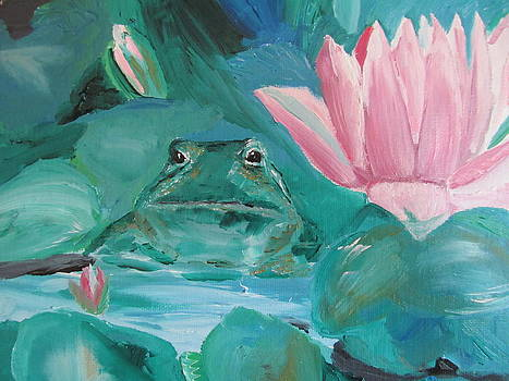 Frog in the Pond by Susan Voidets