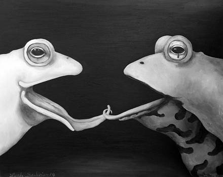Leah Saulnier The Painting Maniac - Frog Love-French Kiss edit 2