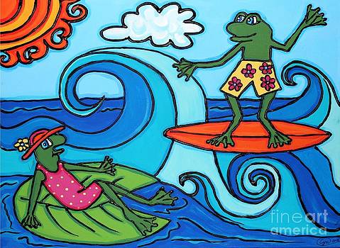 Frogs at the Beach by Cynthia Snyder