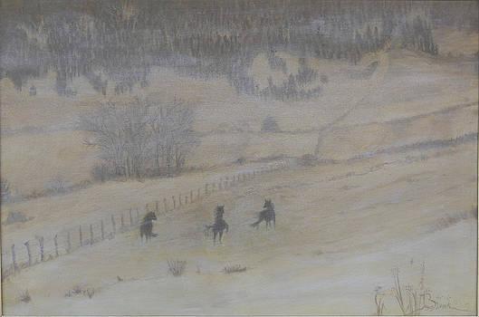Frolic in the Snow by Joyce Blank