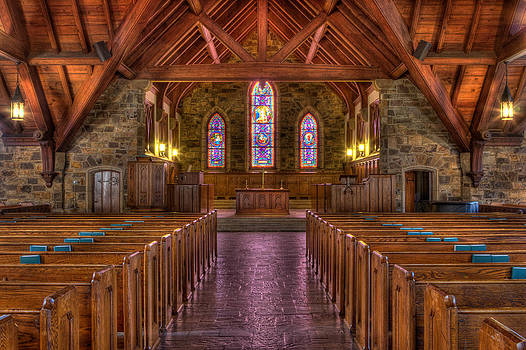 Frost Chapel - Berry College  by Gerald Adams