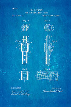 Ian Monk - Frost Kazoo Patent Art 1883 Blueprint