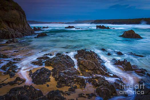 Frouxeira Lighthouse from Do Rio Beach Meiras Galicia Spain by Pablo Avanzini