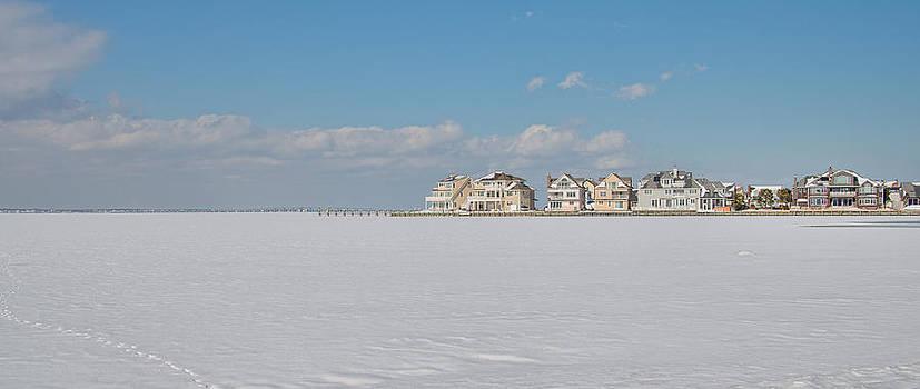 Frozen Barnegat Bay from Seaside Park NJ by Beth Sawickie