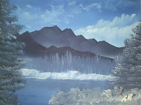 Frozen Blue Mountains by James Waligora