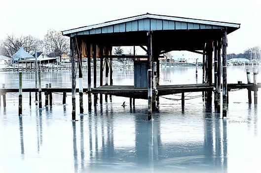 Frozen Boat House by Sheila Noren