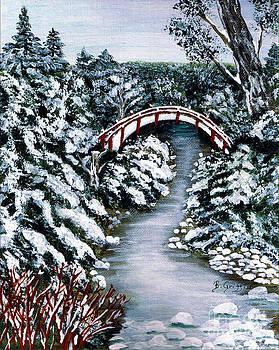 Barbara Griffin - Frozen Brook - Winter - Bridge